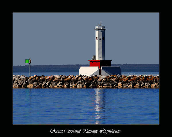 Round Island Passage Lighthouse Poster