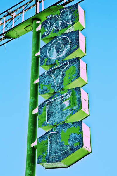 Poster featuring the photograph Route 66 Motel Sign by Gigi Ebert