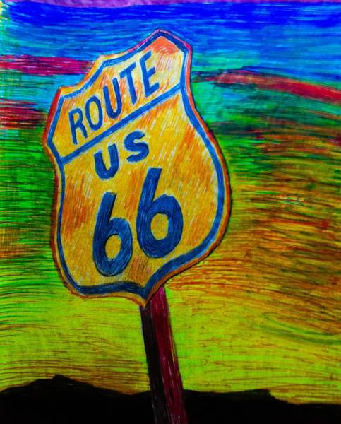 Route 66 Sunset Poster