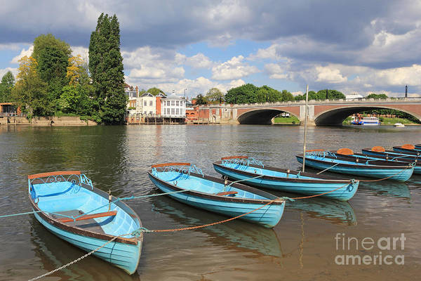 Rowing Boats At Hampton Court Poster