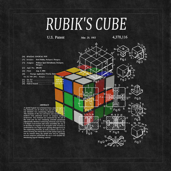 Rubik's Cube Patent 3 Poster