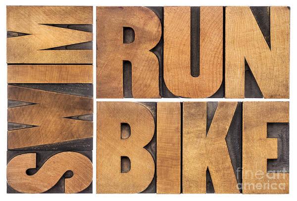 Run Bike Swim - Triathlon Concept Poster