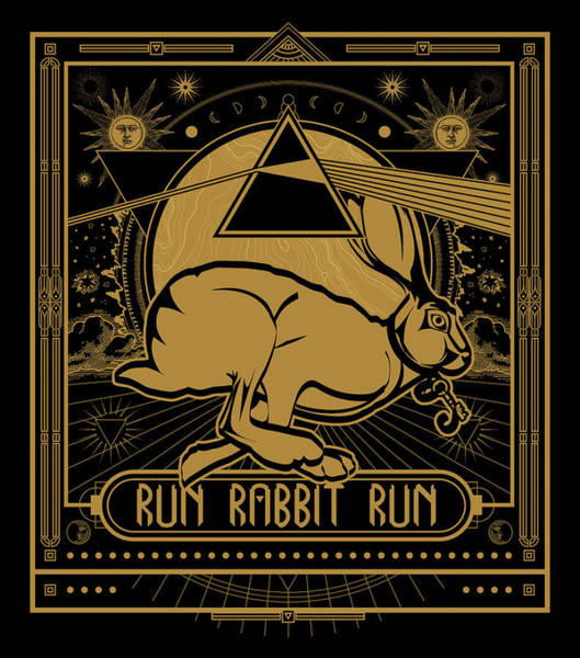 Poster featuring the digital art Run Rabbit Run by Penny Collins