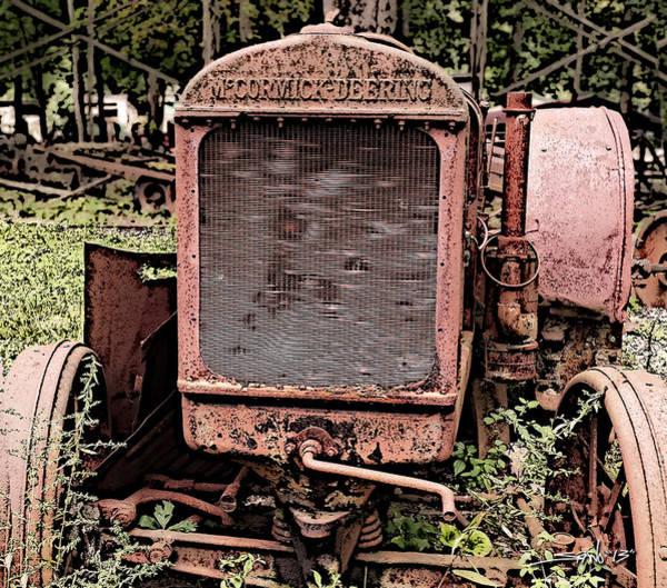 Rusted Mc Cormick-deering Tractor Poster