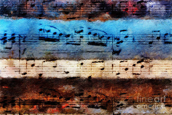 Poster featuring the digital art Rustic Rondo by Lon Chaffin