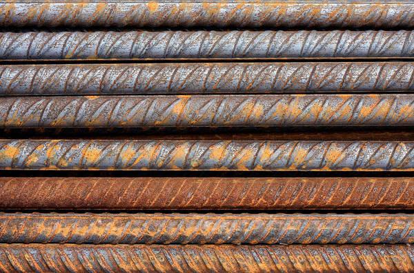 Rusty Rebar Rods Metallic Pattern Poster