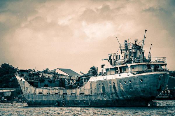 Rusty Ship Poster