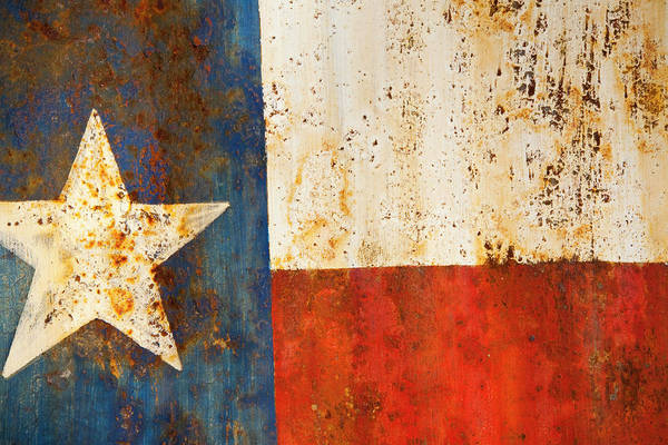 Rusty Texas Flag Rust And Metal Series Poster