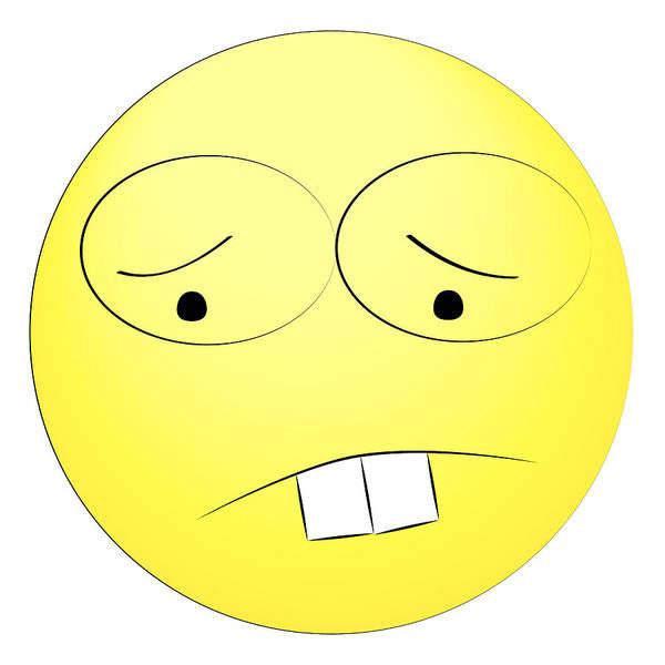 Sad Yellow Smiley Poster