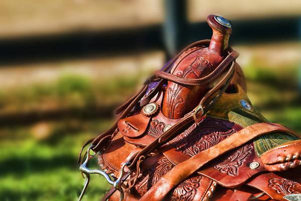 Saddle In Waiting Western Saddle Horse Poster