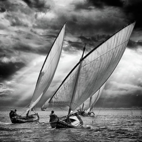 Sailboats And Light Poster