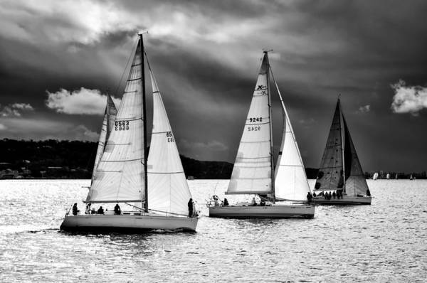 Sailboats And Storms Poster