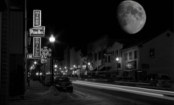 Salem Ohio Winter Moon Poster