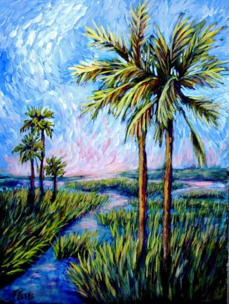 Salt Marsh Palms Poster