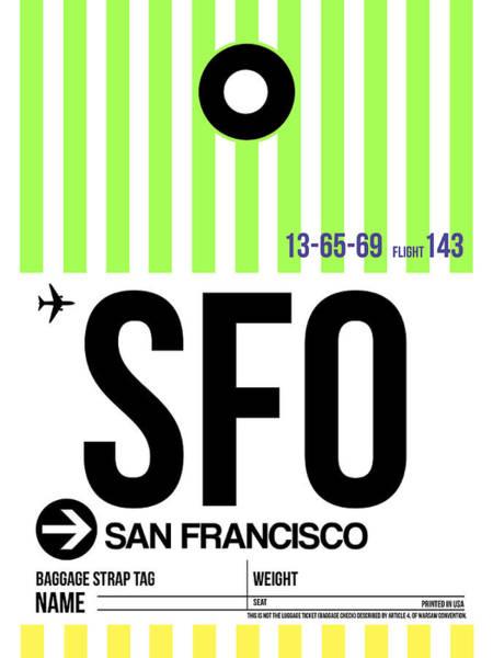 San Francisco Luggage Tag Poster 2 Poster