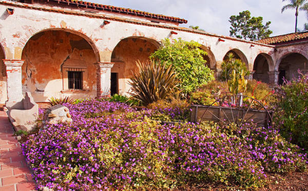 San Juan Capistrano Mission Flower Garden Poster