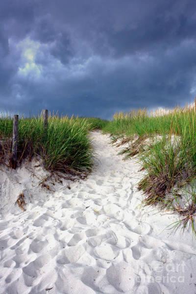 Sand Dune Under Storm Poster
