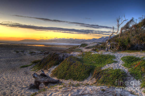 Sandy Sunset Beach Poster