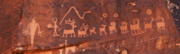 Santa Claus Petroglyph Poster