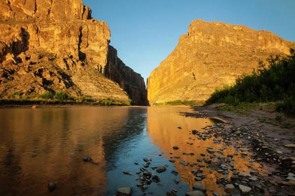 Santa Elena Canyon And Rio Grande Poster