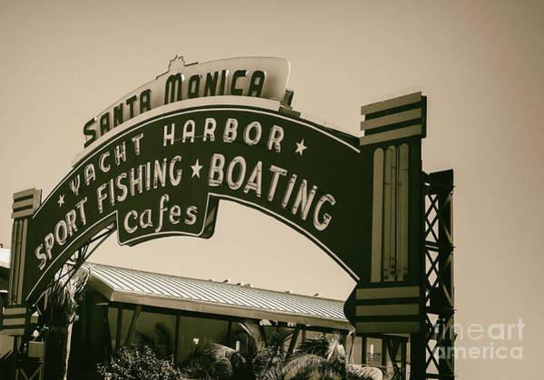 Santa Monica Pier Sign Poster