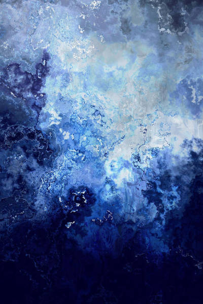 Sapphire Dream - Abstract Art Poster