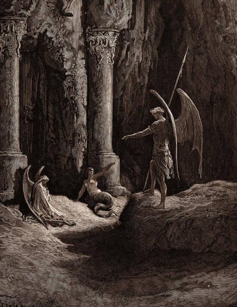 Satan At The Gates Of Hell Poster