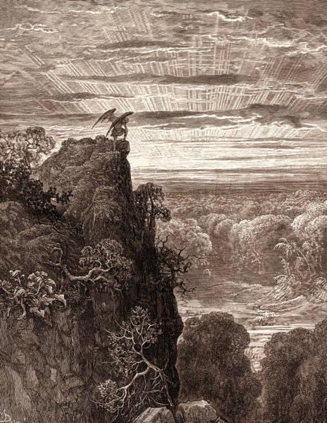 Satan Overlooking Paradise Poster