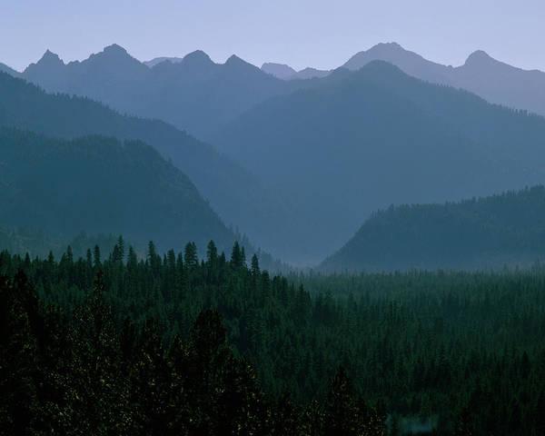 Sawtooth Mountains Silhouette Poster