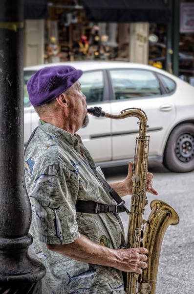 Sax In The Street Poster