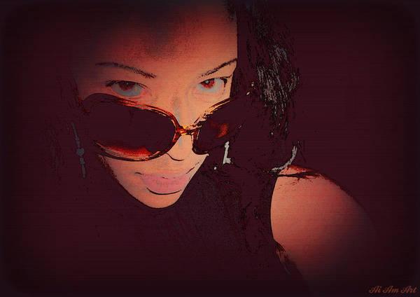 Futuristic Women Sunglasses Fashion Style Art Print Ai P. Nilson  Poster
