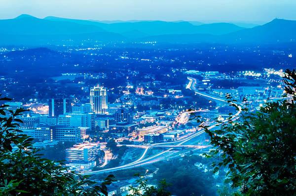 Scenics Around Mill Mountain Roanoke Virginia Usa Poster