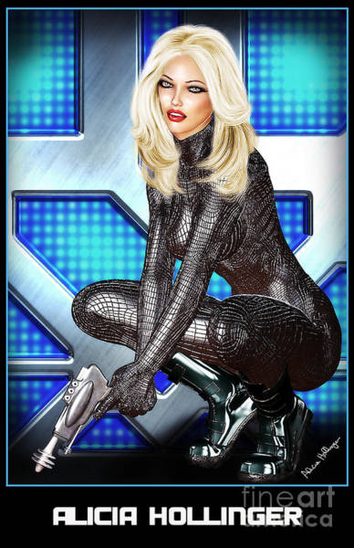 Sci-fi Blonde With A Gun Poster
