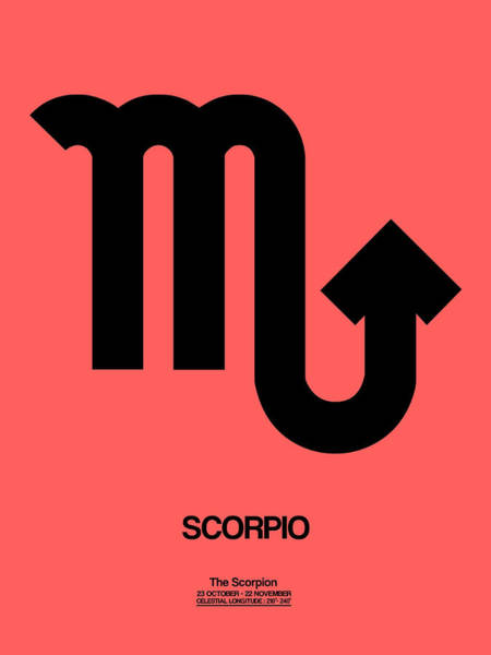 Scorpio Zodiac Sign Black Poster