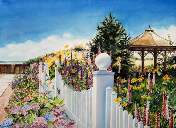 Sea Garden Walk Poster