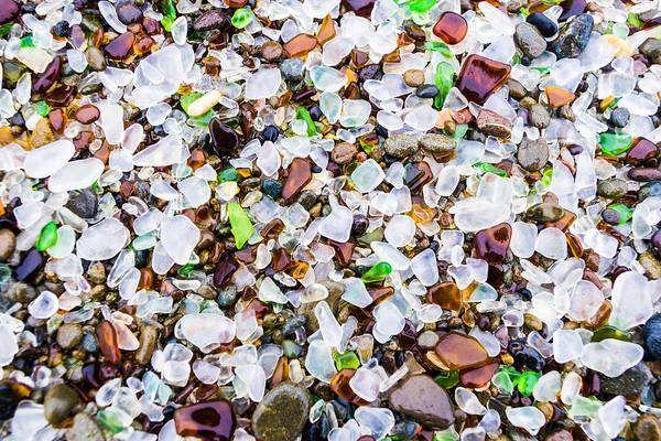 Sea Glass Treasures At Glass Beach Poster