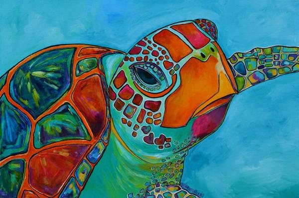 Seaglass Sea Turtle Poster