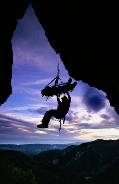 Search And Rescue Climber Hanging Poster