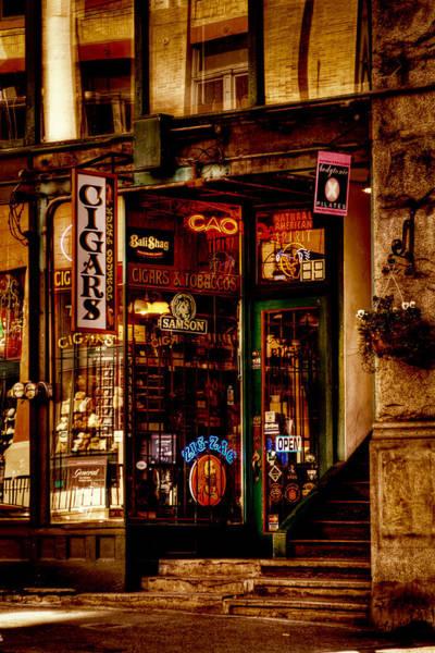 Seattle Cigar Shop Poster