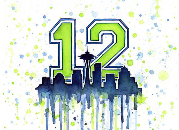 Seattle Seahawks 12th Man Art Poster