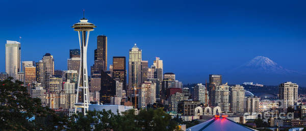 Poster featuring the photograph Seattle Skyline Panoramic by Brian Jannsen