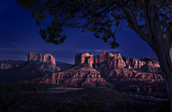 Sedona Cathedral Rock Post Sunset Glow Poster