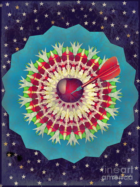 Poster featuring the digital art Seduction  by Eleni Mac Synodinos
