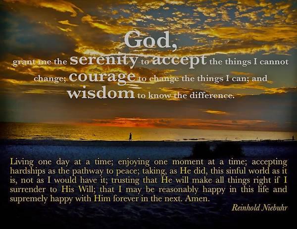 The Serenity Prayer Poster
