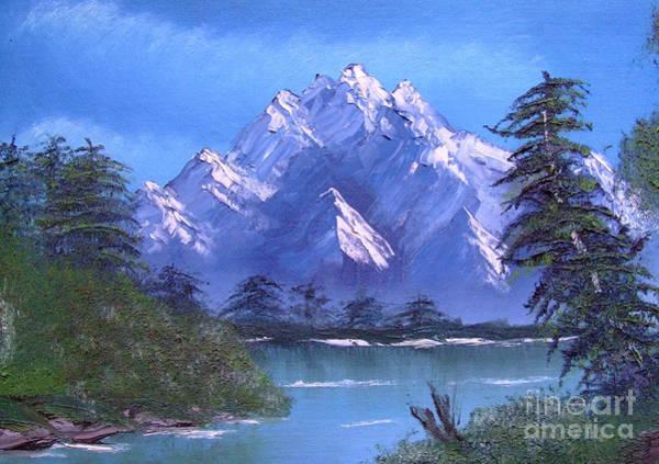 Shadowed Mountain Lake Poster
