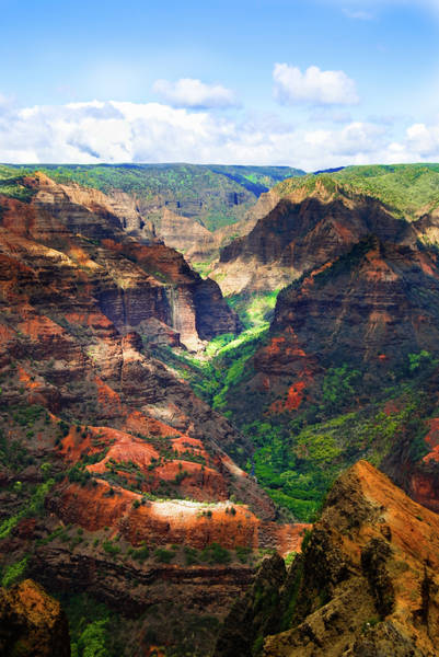 Shadows Of Waimea Canyon Poster