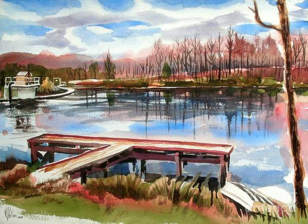 Shepherd Mountain Lake In Winter Poster