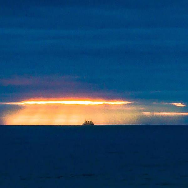 Ship On The Horizon Poster