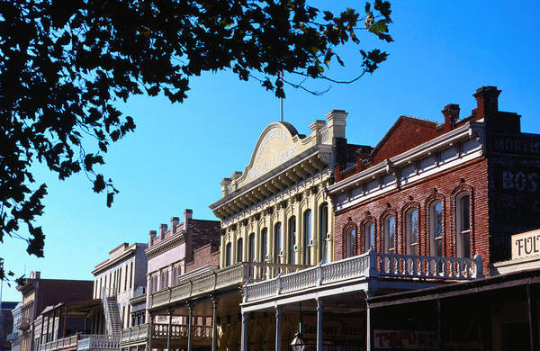 Shop Fronts In Old Sacramento - Poster