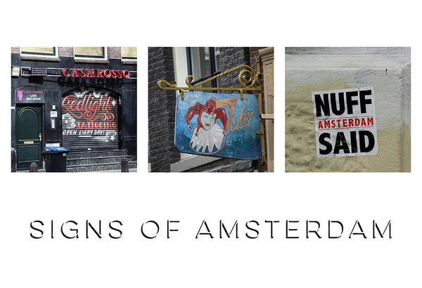 Signs Of Amsterdam Poster